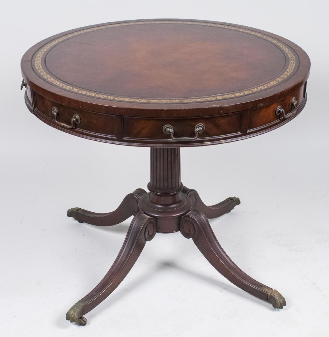 Baker Mahogany Drum Table