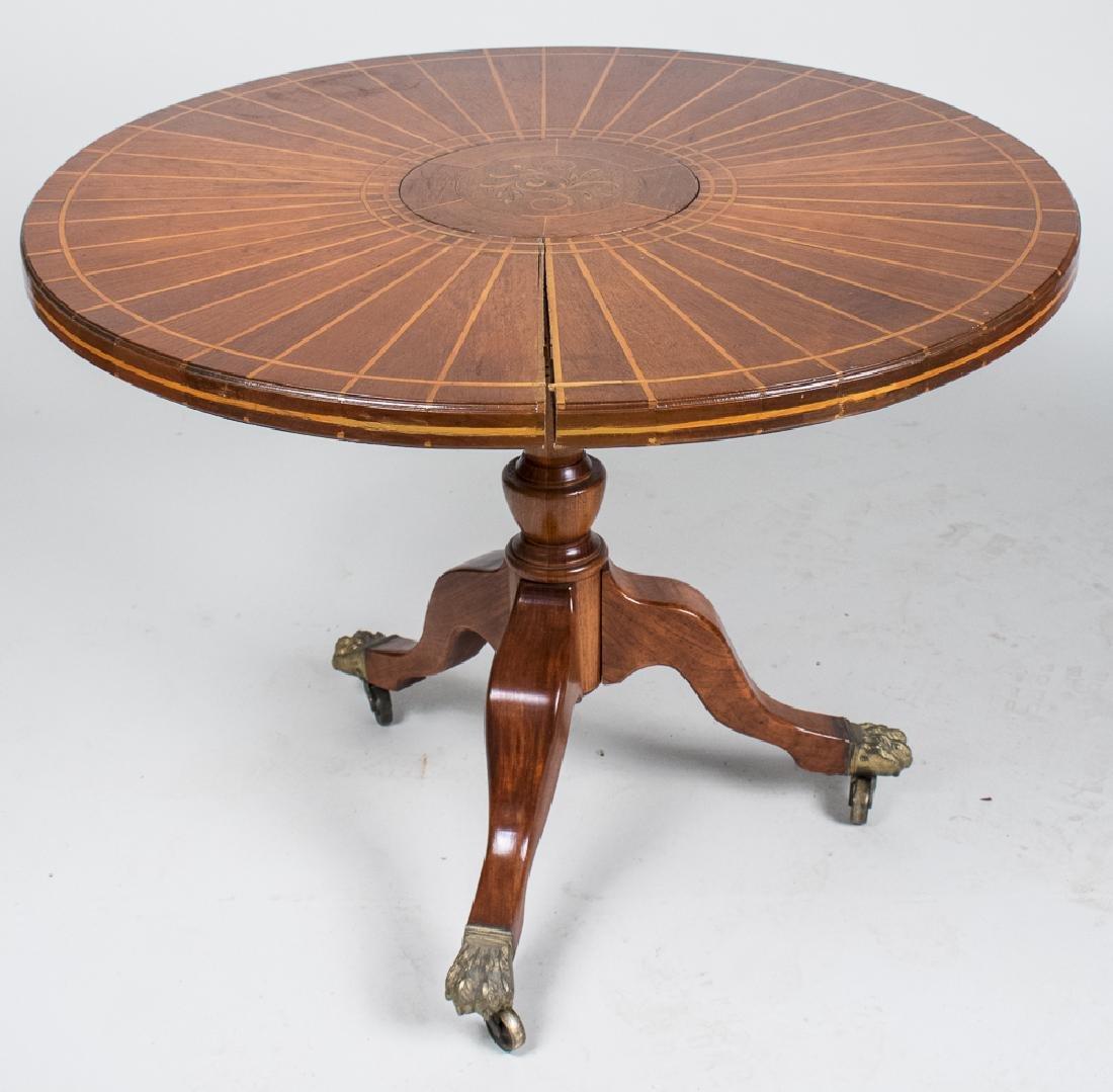 Circular Fruitwood Center Table