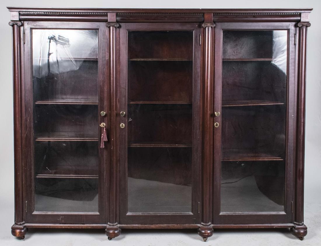 Mahogany Glazed Door Bookcase