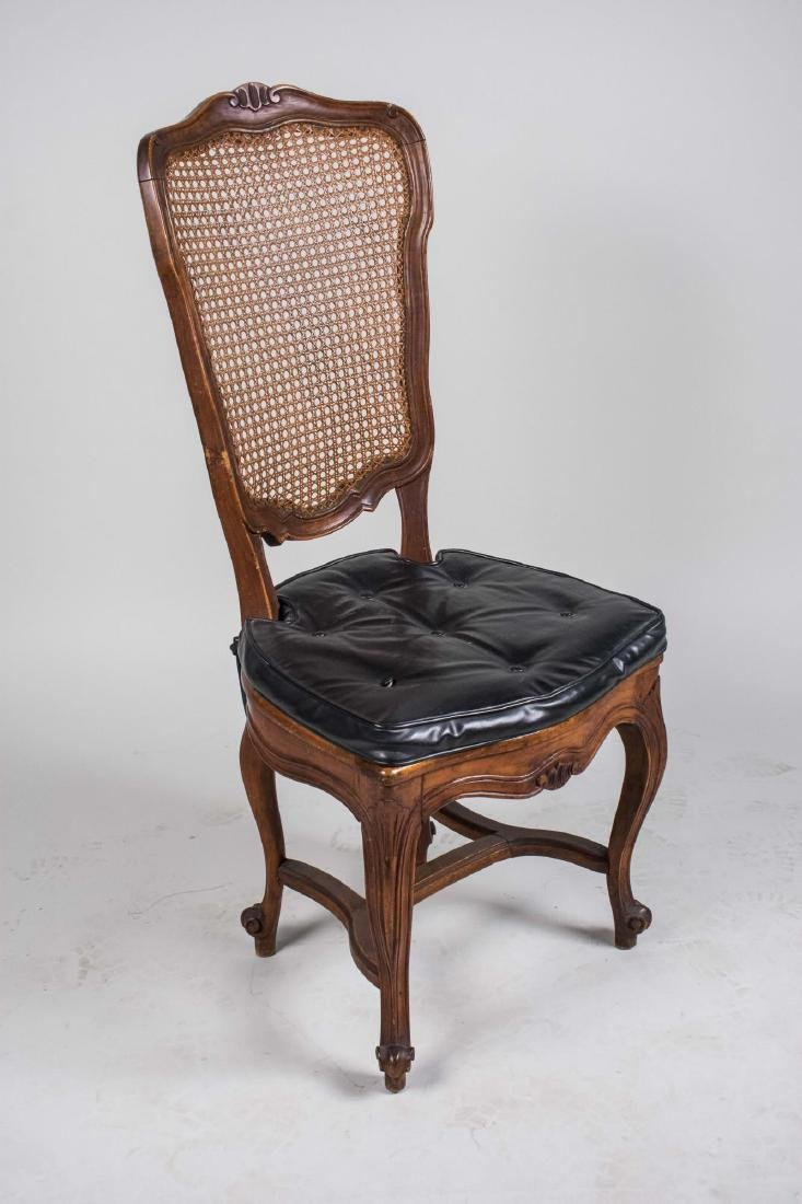 Louis XV Style Caned Back Side Chair