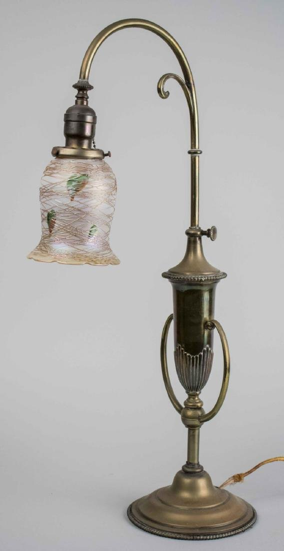 Quezal Art Glass Lamp