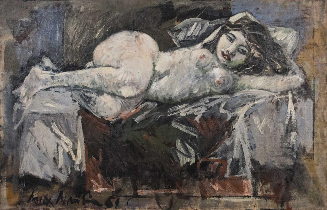 Nude Portrait of a Woman (20th Century)