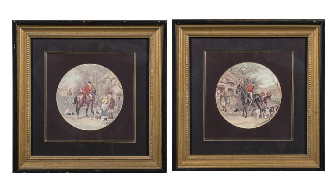 Pair of Reproduction Prints of English Hunt Scenes