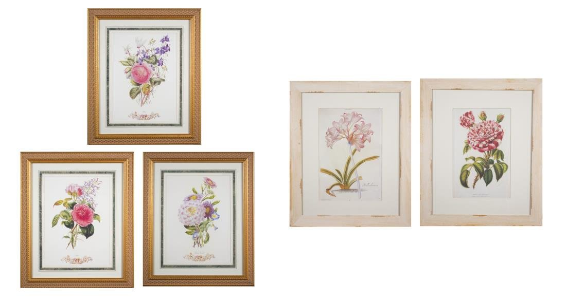Group of Decorative Floral Prints (20th Century)