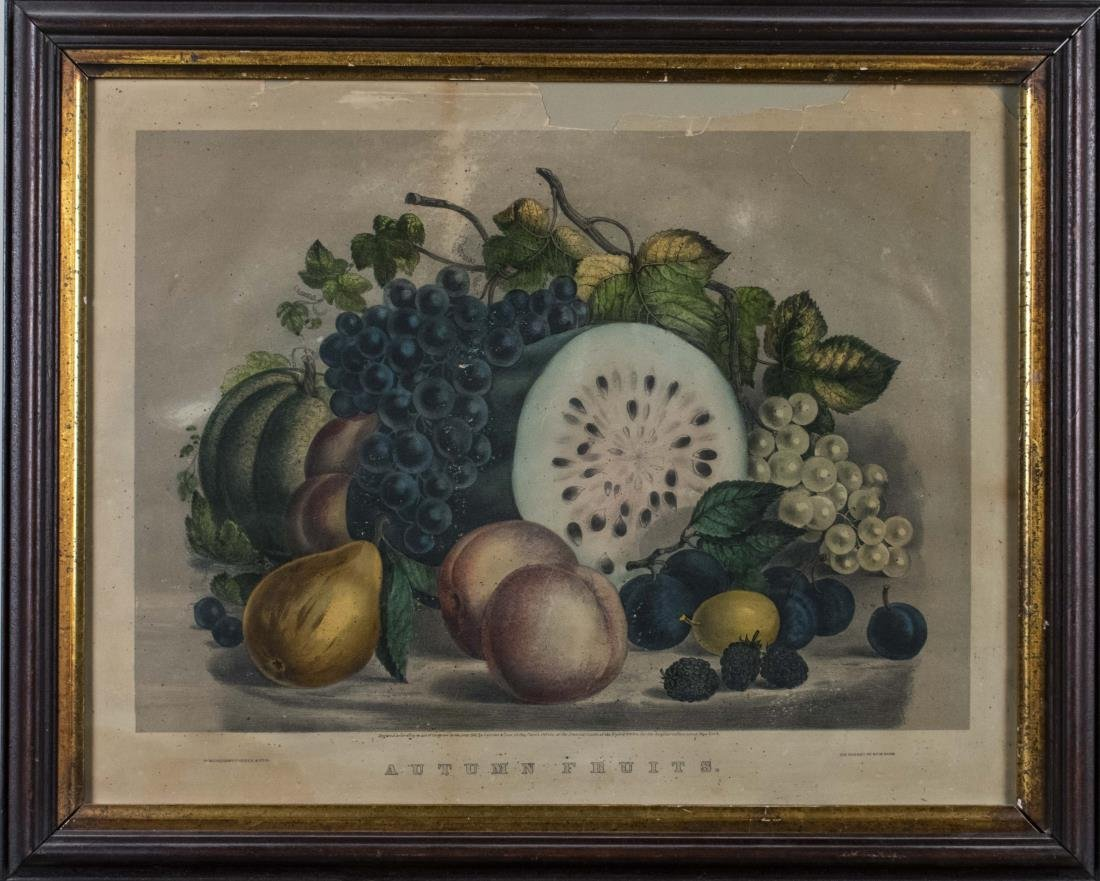 """Currier & Ives """"Autumn Fruits"""" (19th Century)"""