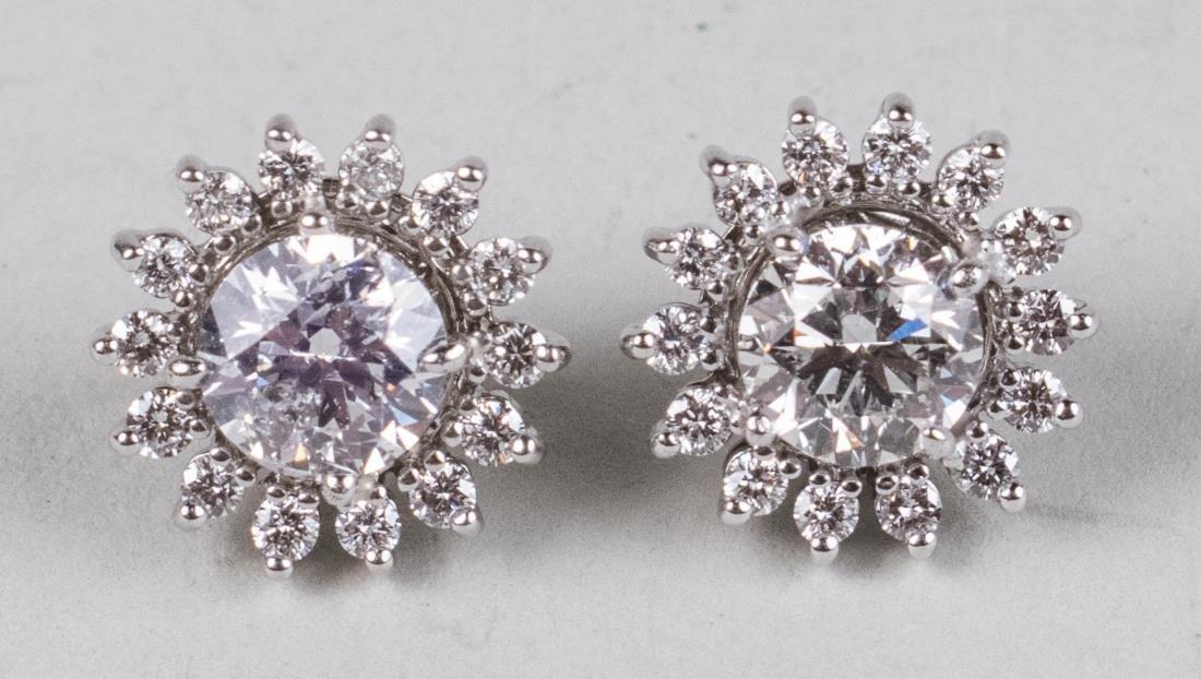 Pair of Diamond Earrings   *