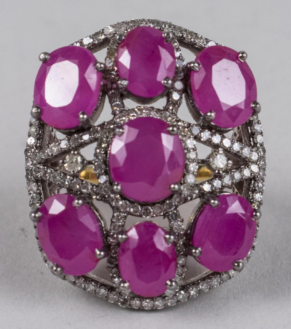 Ruby and Diamond Ring   *