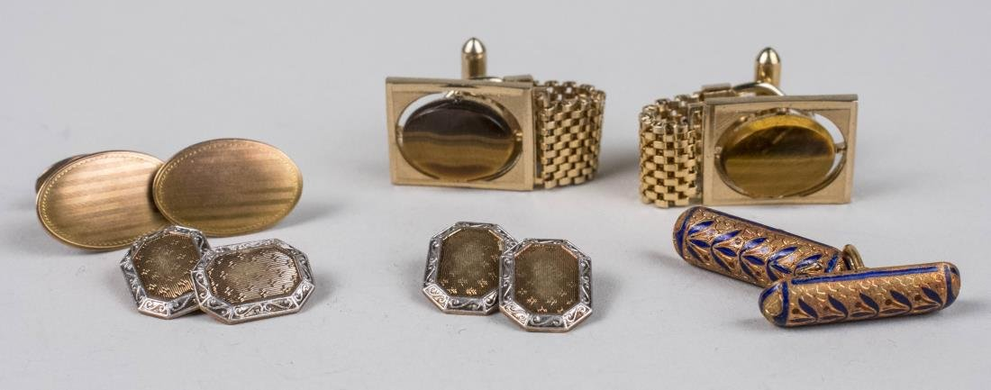 Group of Gentleman's Gold Cufflinks