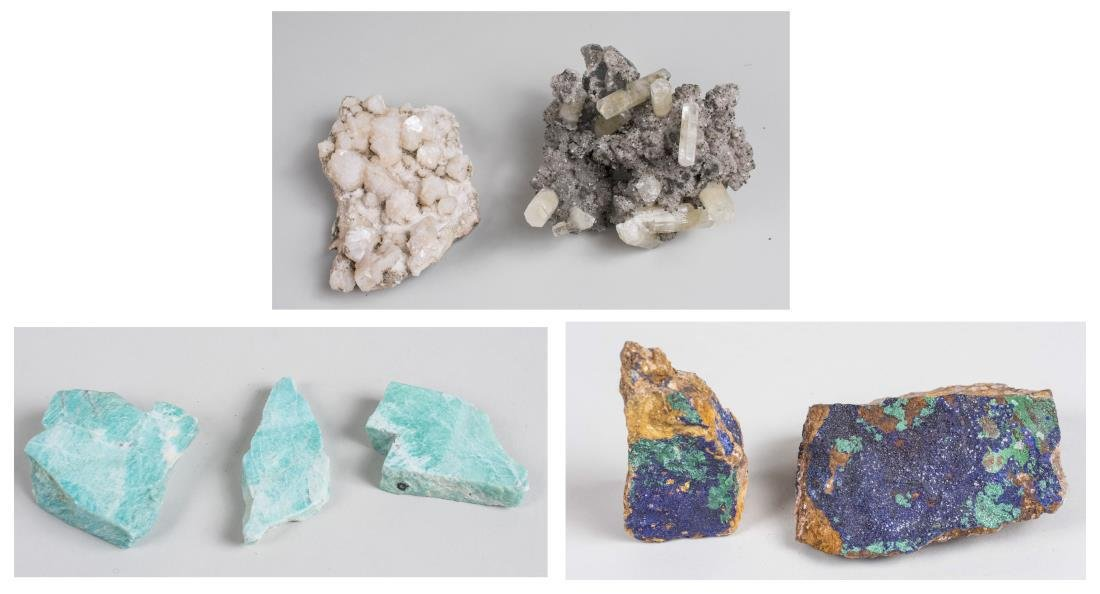 Group of Mineral Specimens
