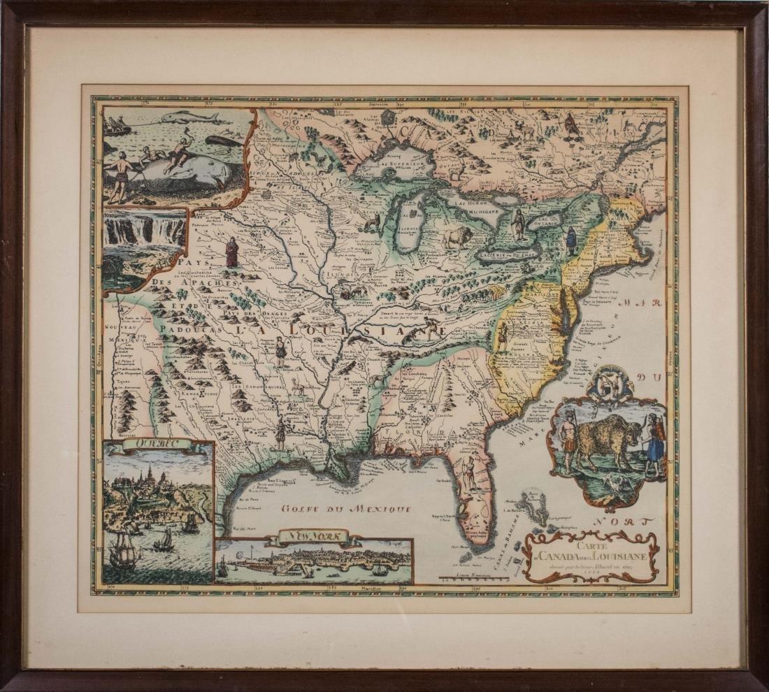 Reproduction Print Map Canada and Louisiana 1695