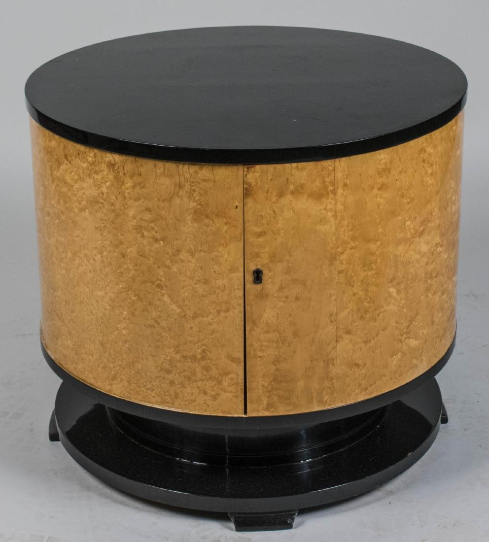 Modern Burl Wood Side Table