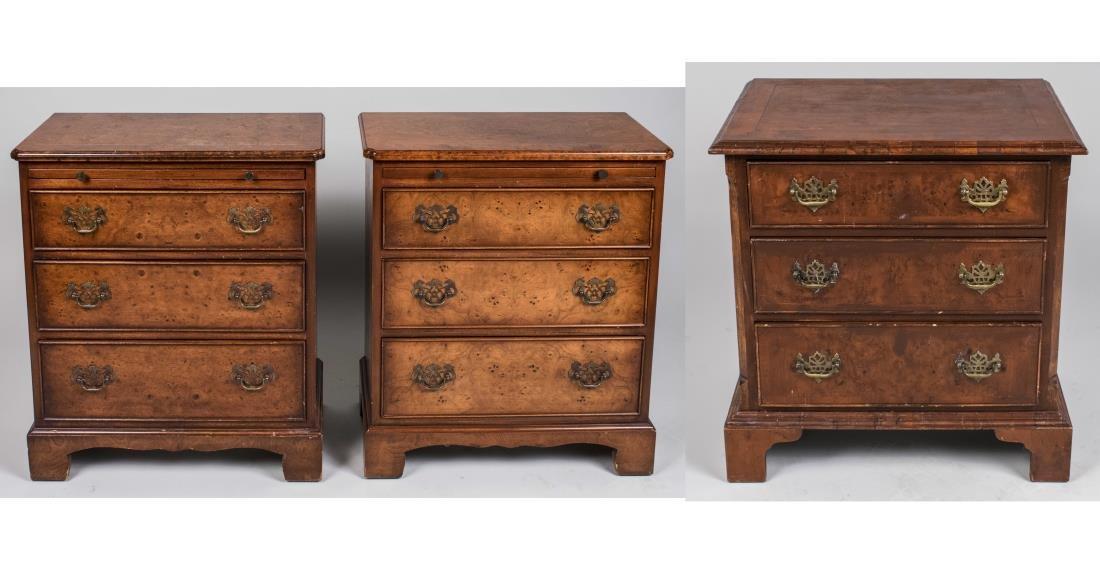 Three Diminutive Chests of Drawers