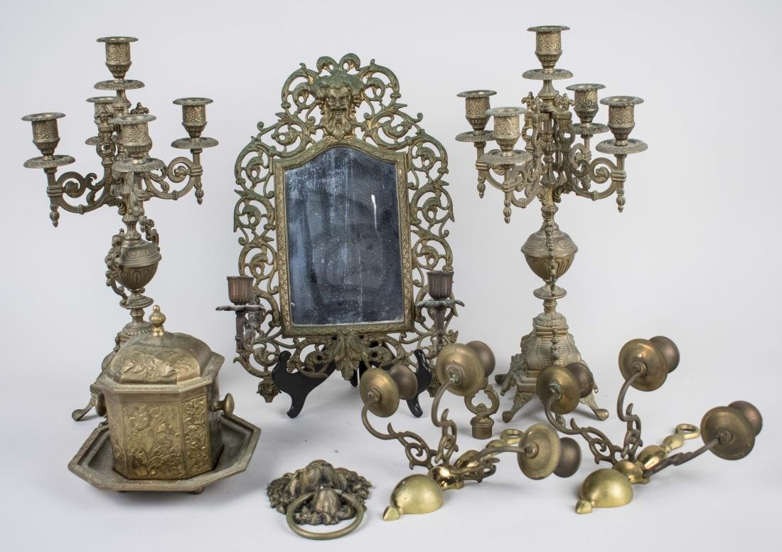 Group of Brass Decorative Articles