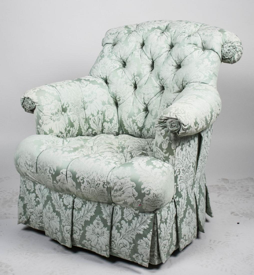Button Tufted Club Chair