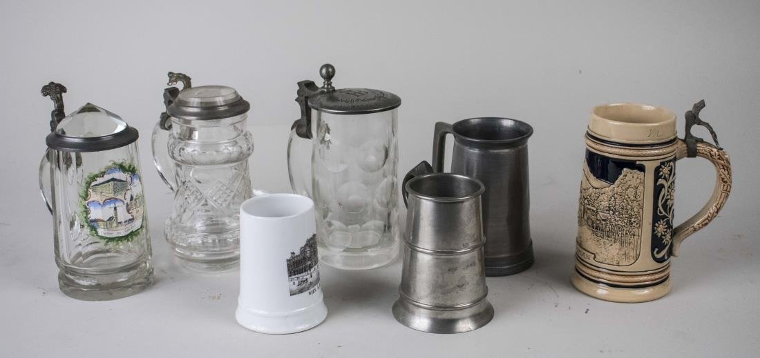Group of Beer Steins and Tankards