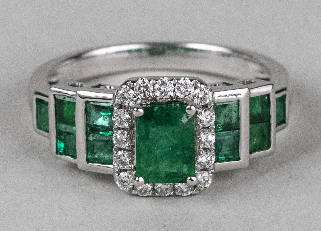 Emerald and Diamond Ring   *