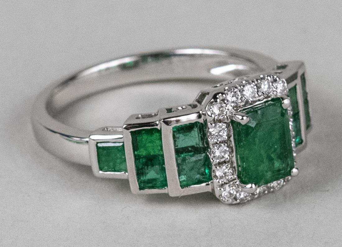 Emerald and Diamond Ring   * - 2