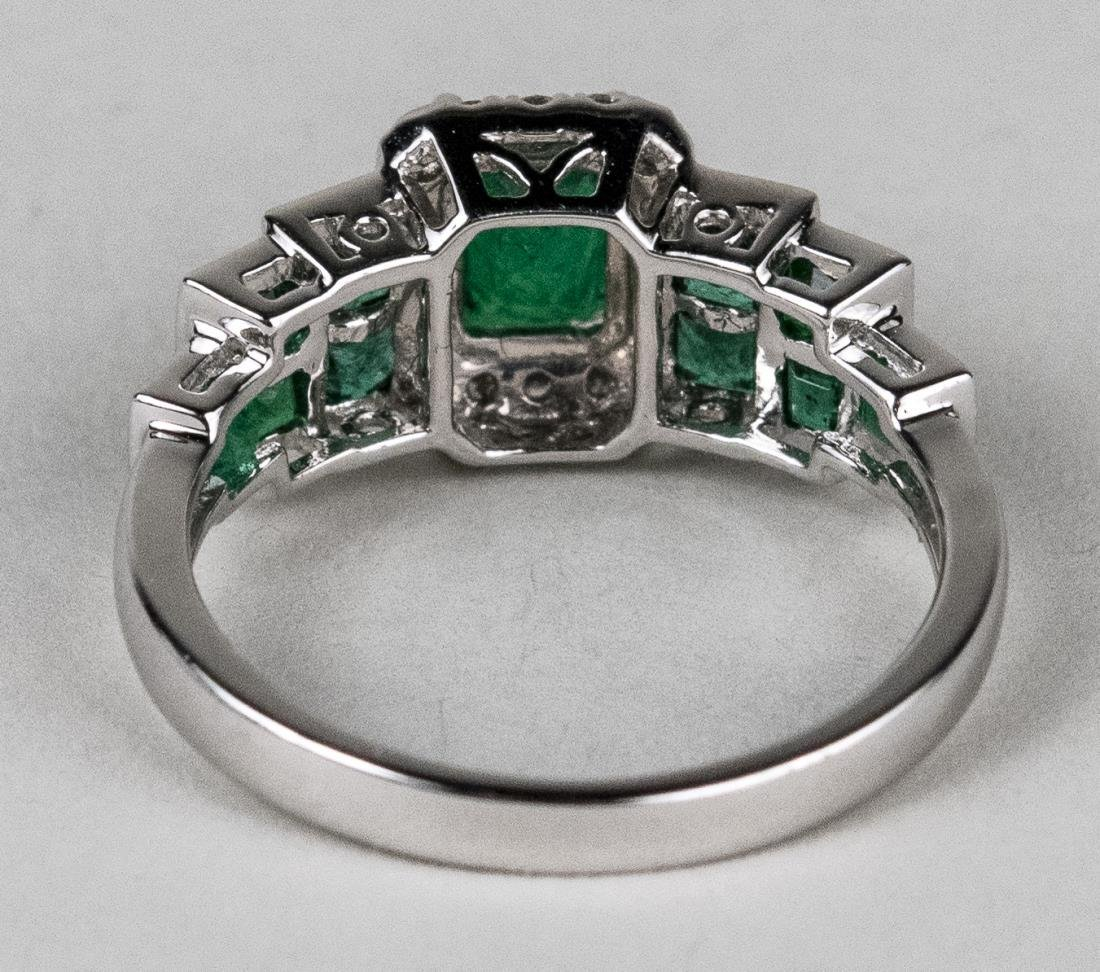 Emerald and Diamond Ring   * - 3