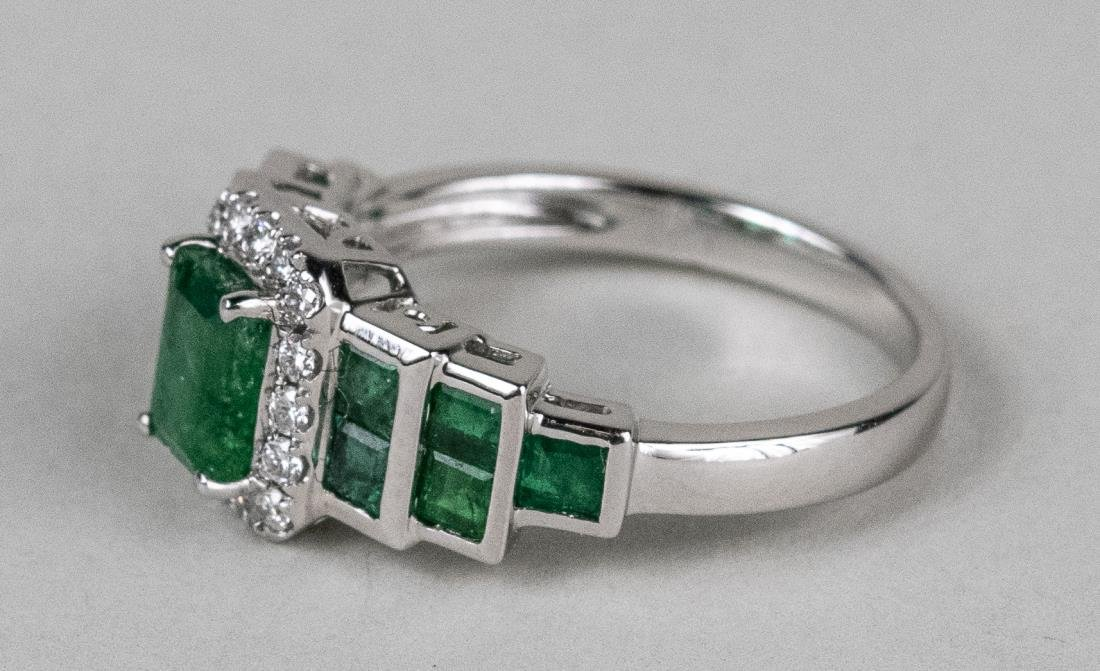 Emerald and Diamond Ring   * - 4