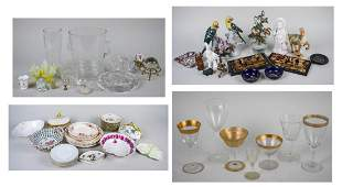 Group of Table Decorations and Serving Articles