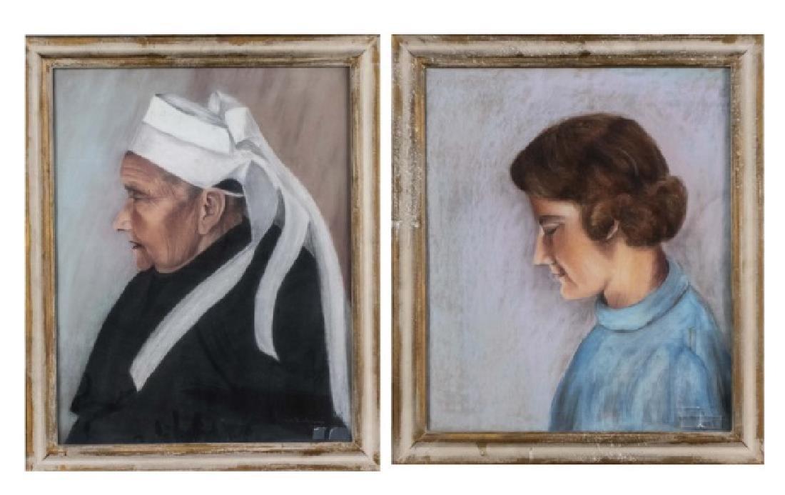 A. M. Barban (Active Circa 1930) Two Portraits