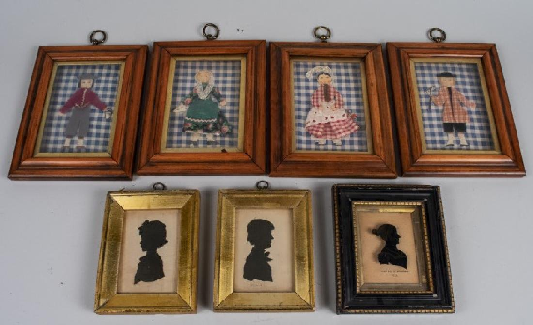 Group of Decorative Pictures & Silhouettes