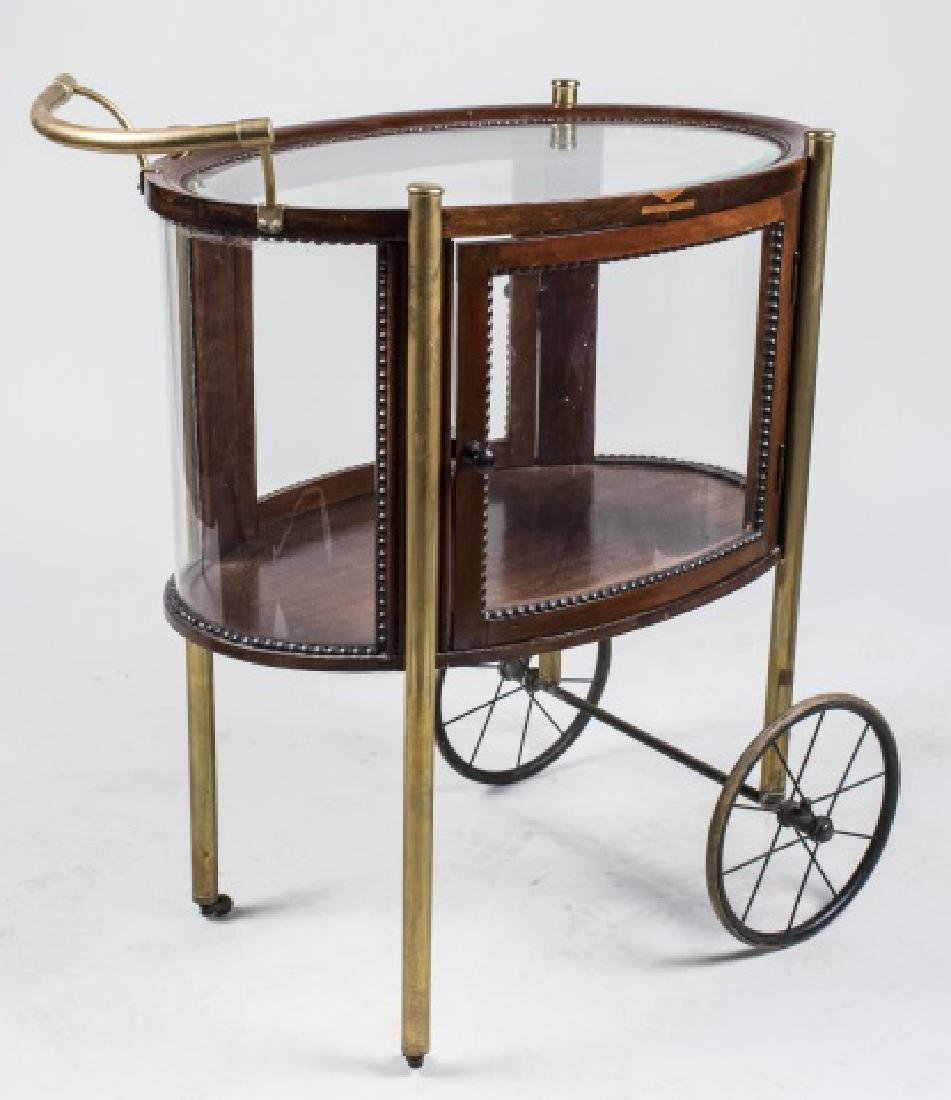 Brass and Wood Tea Cart   *