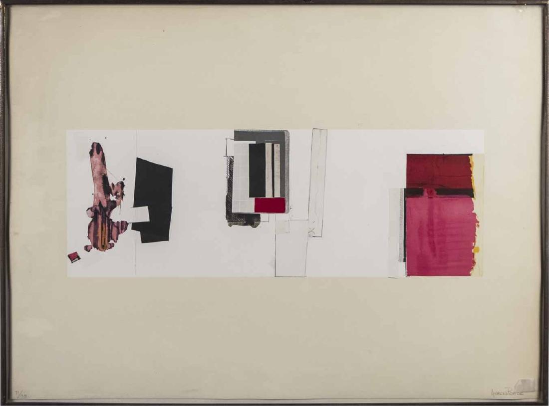 F Garcia Ponce (Mex,1933-1987) Geometric Abstract