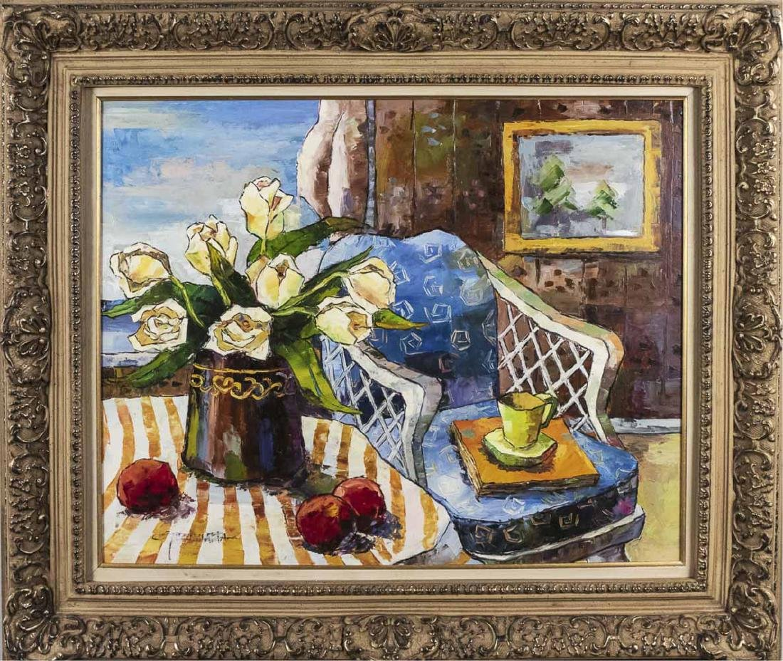 American School (20th C)  Still Life with Roses