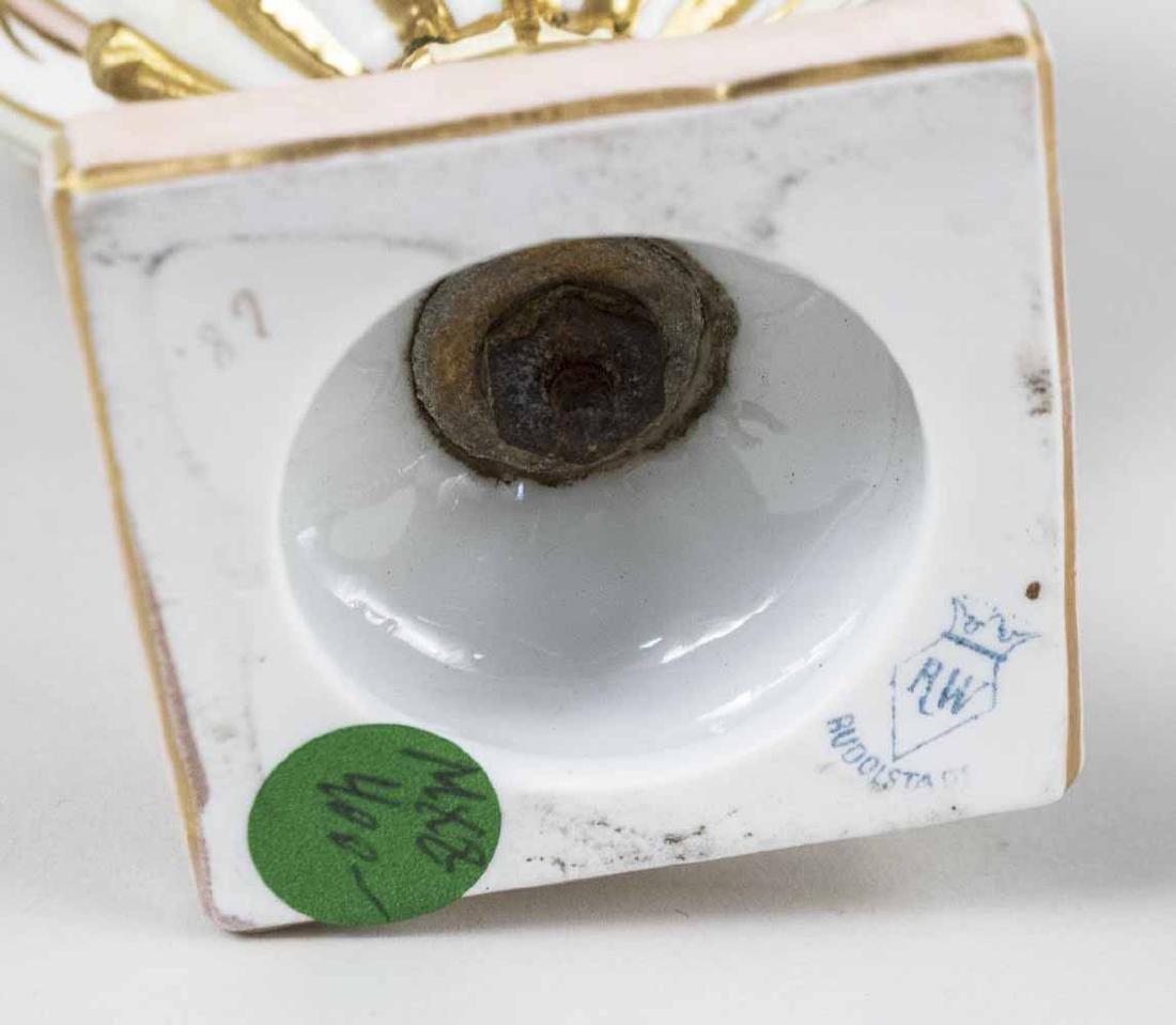 German Rudolstadt Porcelain Covered Urn - 3