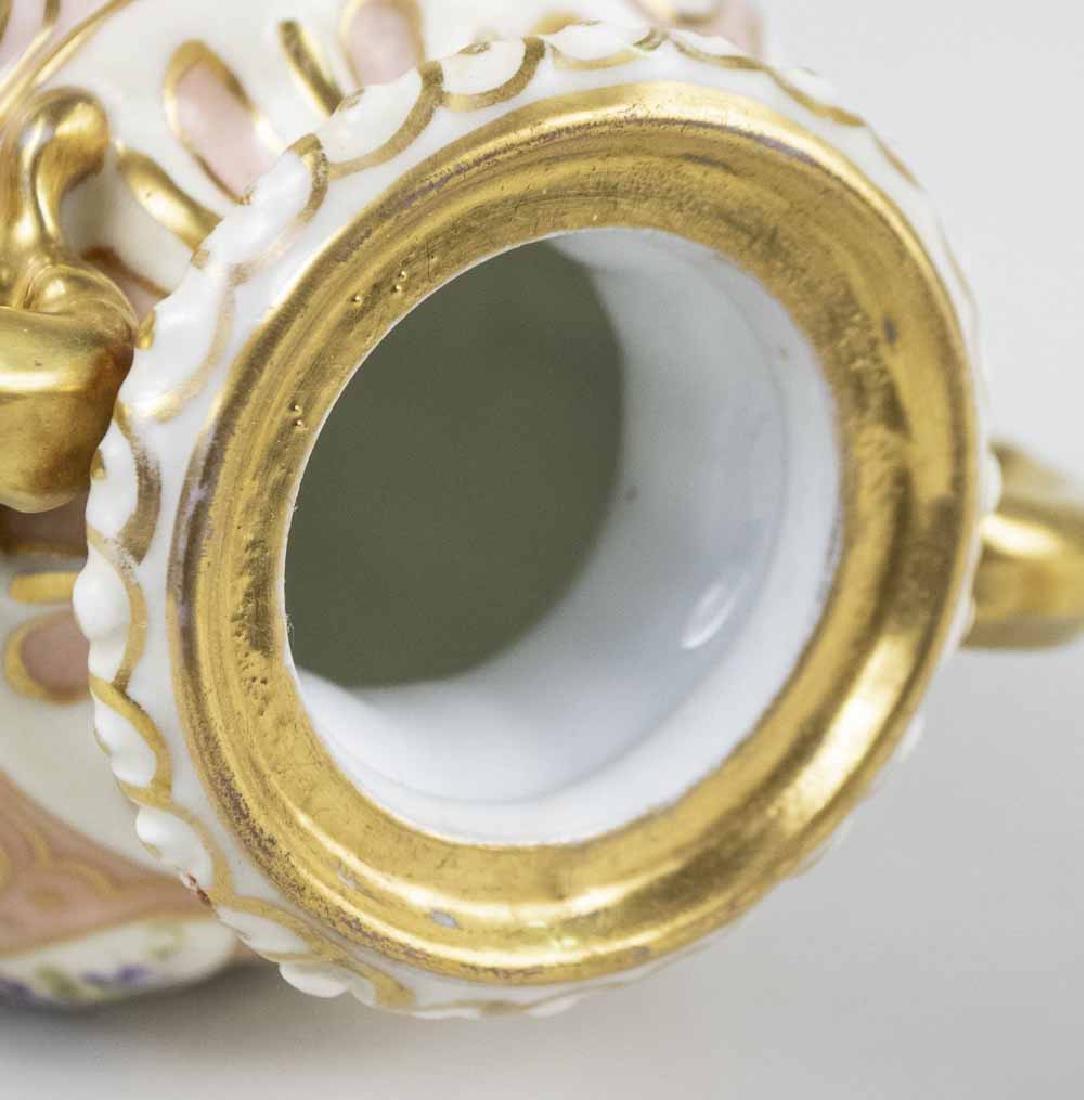 German Rudolstadt Porcelain Covered Urn - 5