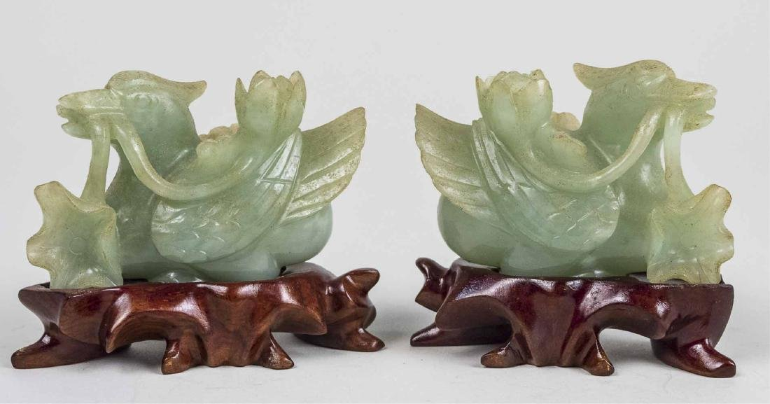 Two Chinese Carved Hardstone Figures