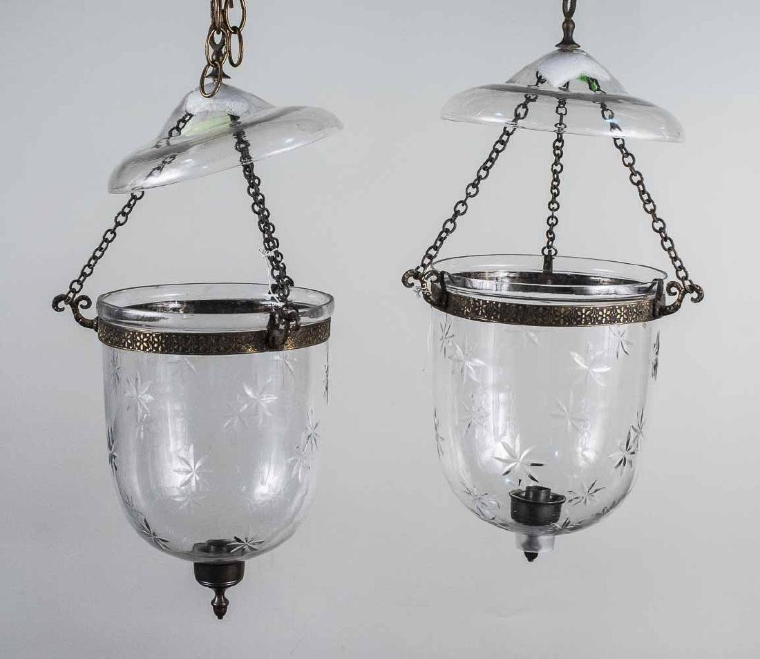 Pair of Bell Jar Lanterns