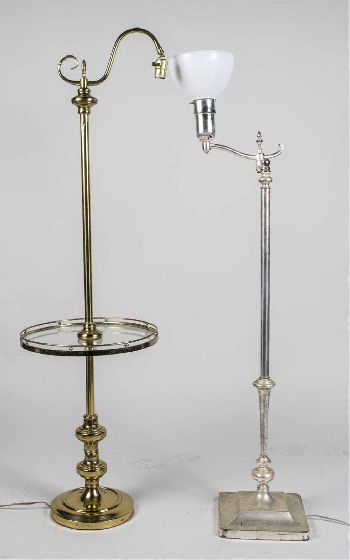 Two Metal Floor Lamps