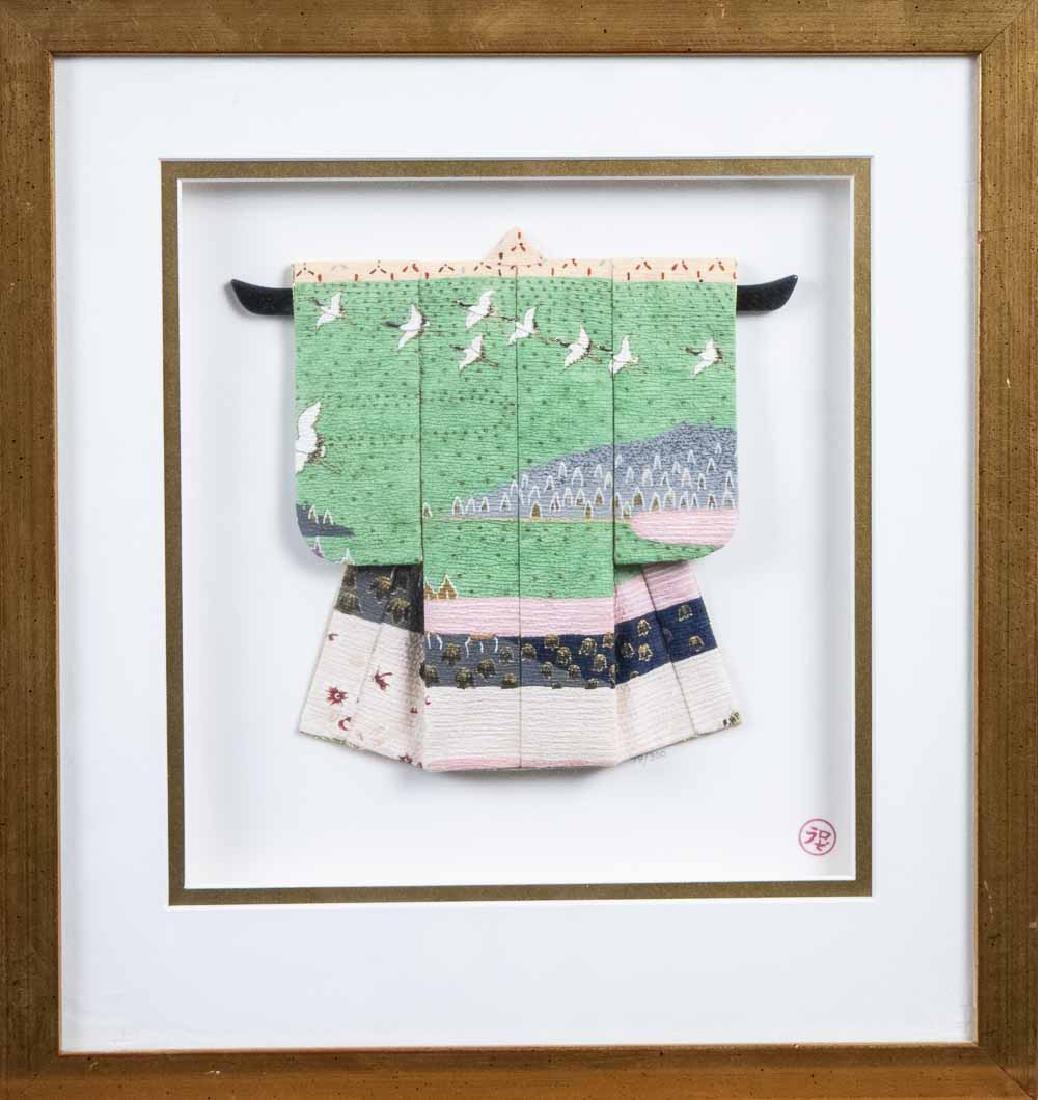 Three Rosella Harrison Peck Miniature Kimonos