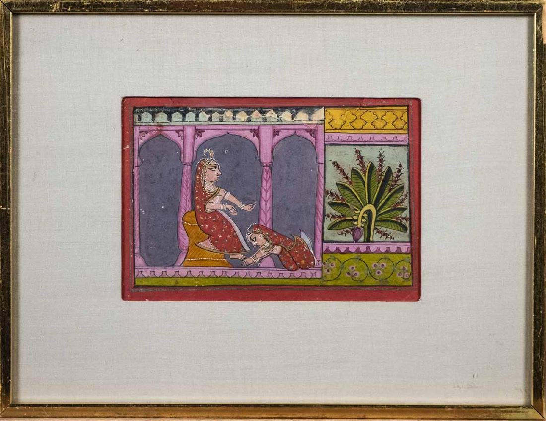Three Indian Miniature Paintings
