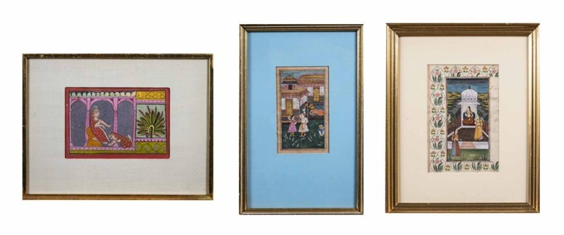Three Indian Miniature Paintings - 2