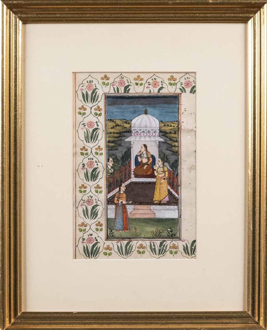 Three Indian Miniature Paintings - 3