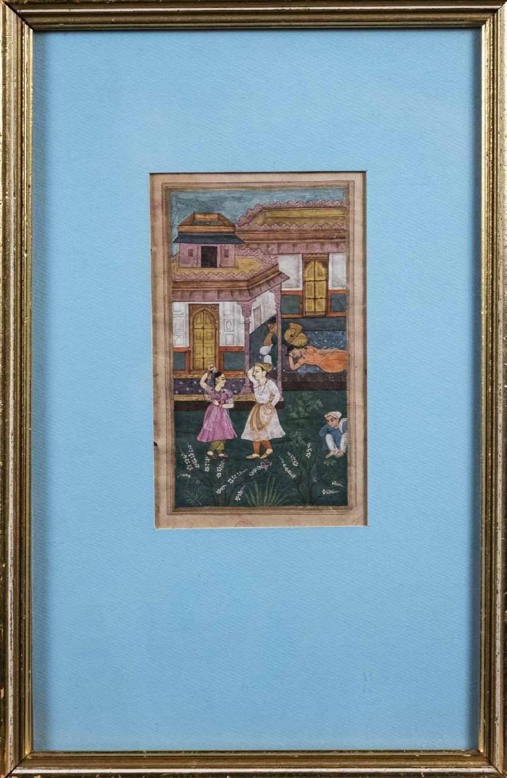 Three Indian Miniature Paintings - 4