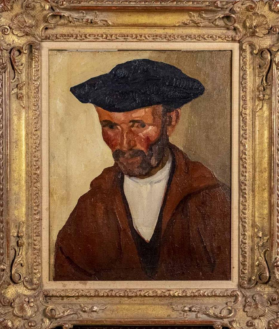 Oil Portrait of a Basque Man