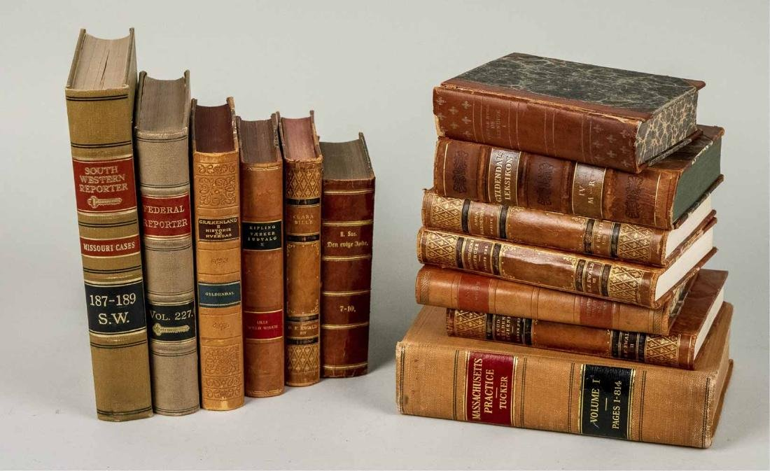 Miscellaneous Group of Leather Bound Books