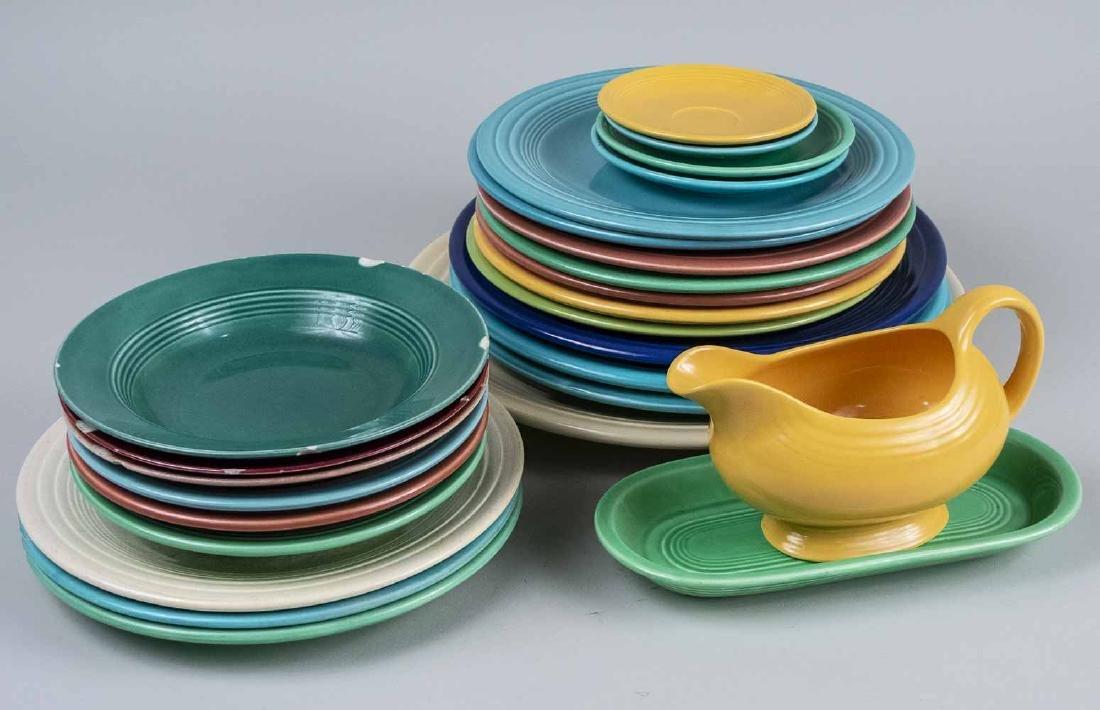 Assembled Fiesta Ware Dishes