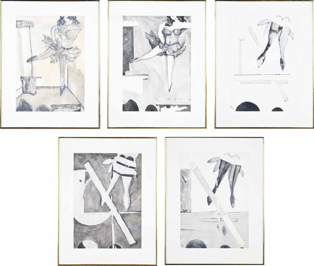 Five Works by Peter Williams (Irish, 1919-1994)