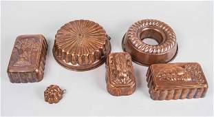 Six Copper Molds