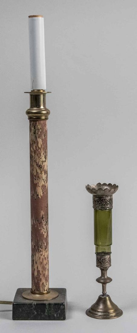 Candlestick Lamp and a Pricket Stick