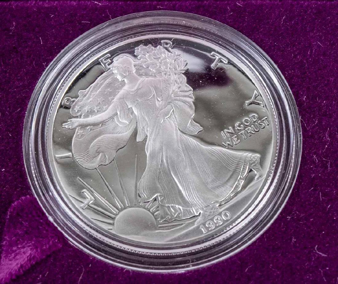 Five American Silver Eagle Coins - 2