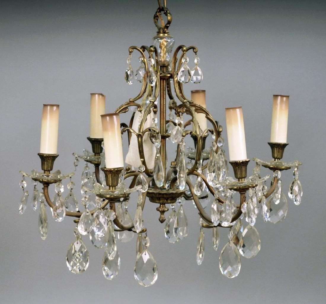 Louis XVI Style Brass Chandelier