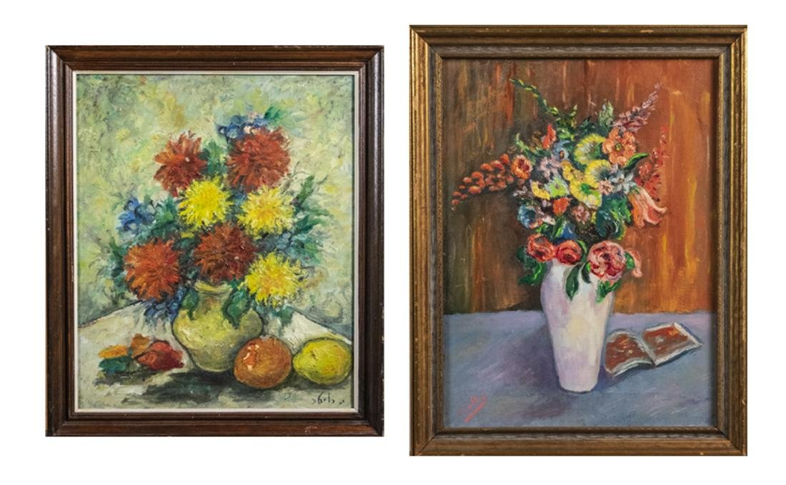 Two Oils on Canvas (20th Century)