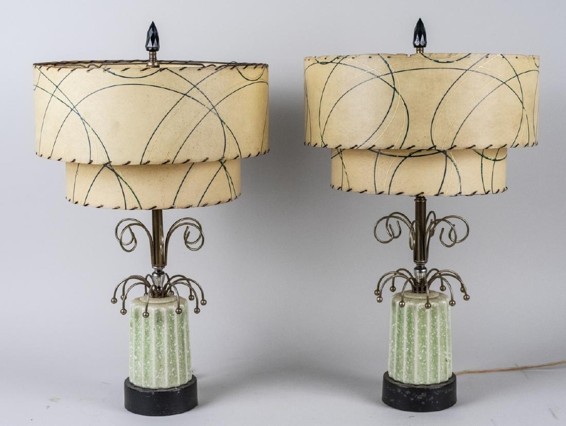 Pair of Mid Century Lamps