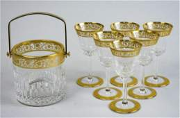 St. Louis Crystal Thistle Gold Glassware